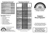 Ratgeber Recyclingpapier - Greenpeace Gruppen in Deutschland
