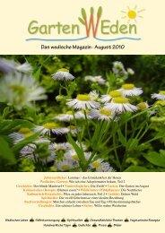 Das wedische Magazin . August 2010 - Garten Weden