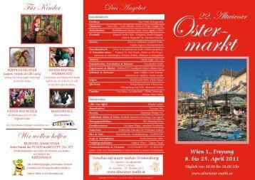 Wien 1., Freyung 8. bis 25. April 2011 - Altwiener Christkindlmarkt