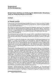 E-Government-Gesetz - Behörden Spiegel