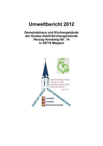 Umweltbericht 2012 - luth. Gustav-Adolf-Kirchengemeinde