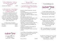 Veranstaltungen Herbst 2012 - Restaurant aubergine Koblenz