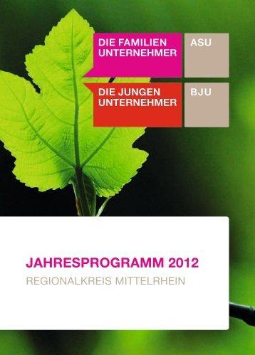 JAHRESPROGRAMM 2012 - Familienunternehmen