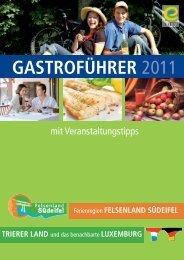 Gastroführer 2011 - Deutsch-Luxemburgische Tourist-Information