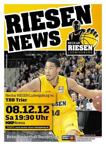 Neckar RIESEN vs. TBB Trier - Neckar RIESEN Ludwigsburg