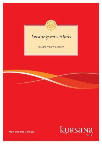 pdf Leistungsverzeichnis Villa Wiesbaden (1.44 MB ) - Kursana