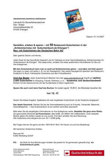 Gutscheinbuch Erlangen - Gesamtpersonalrat der Universität ...