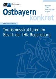 Tourismusstrukturen im Bezirk der IHK Regensburg