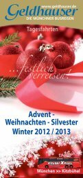 Tagesfahrten Winter 2012 / 2013 - Geldhauser