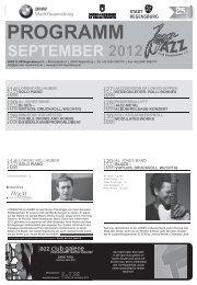 14 09 - Jazzclub Regensburg