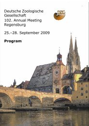 Program - Deutsche Zoologische Gesellschaft