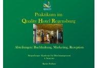 Praktikum im Quality Hotel Regensburg