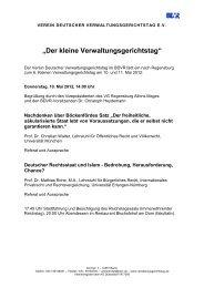 """""""Der kleine Verwaltungsgerichtstag"""" - BDVR"""