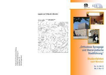 """""""Orthodoxe Synagoge und liberal-jüdische ... - KEB-Regensburg"""