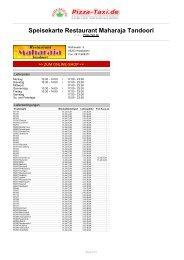 Restaurant Maharaja Tandoori in 65203 Wiesbaden ... - Pizza Taxi