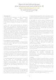 Allgemeine Geschäftsbedingungen Ulmer Messecatering ... - Lago