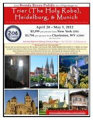 Trier (The Holy Robe), Heidelburg, & Munich - 206 Tours