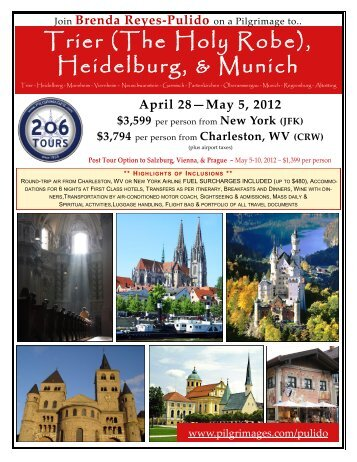 Trier (The Holy Robe), Heidelburg, & Munich - 206 Tours