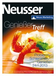 Magazin Genießertreff 2013 - Neuss Marketing