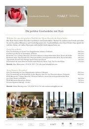 Geschenkgutscheine - Hyatt Hotels and Resorts