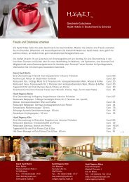 Geschenk-Gutscheine Hyatt Hotels in Deutschland & Schweiz ...