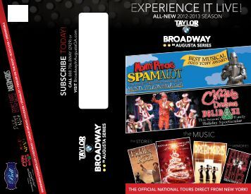 experience it live! - Broadwayinaugustaga.com - Broadway in Augusta
