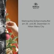 Weihnachts-Schlemmerbuffet am 25. und 26. Dezember im Hilton ...