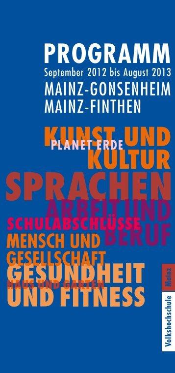MAINZ-GONSENHEIM MAINZ-FINTHEN - vhs Mainz
