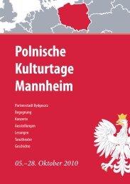 Polnische Kulturtage Mannheim - Stadt Mannheim