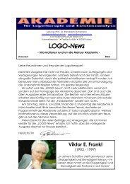 LOGO-NEWS - Akademie für Logotherapie und Existenzanalyse ...