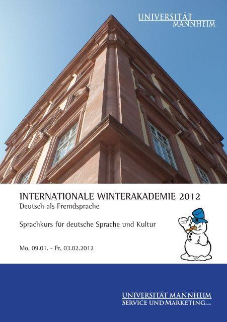 internationale winterakademie 2012 - Deutsch als Fremdsprache ...