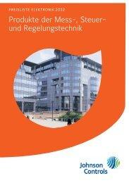 [PDF] Preisliste Elektronik 2012 - Johnson Controls