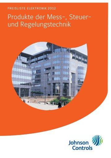 [PDF] Preisliste Elektronik 2012 - Johnson Controls