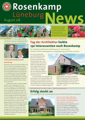 Die Ausgabe von August 2008 hier zum Downloaden - in Rosenkamp
