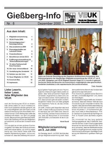 Gießberg-Info - Verein der Ehemaligen der Universität Konstanz ...