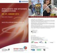 intelligente und effiziente energiesysteme 29.–31. januar ... - enertec