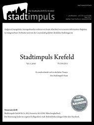 (und) effektiv - Stadtimpuls Krefeld
