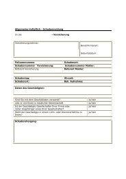Allgemeine Haftpflicht - INVESTA