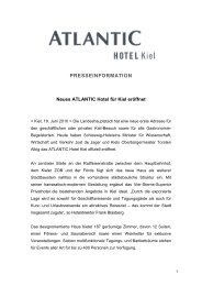Entwurf Pressemitteilung ATLANTIC Hotel Kiel - ATLANTIC Hotels