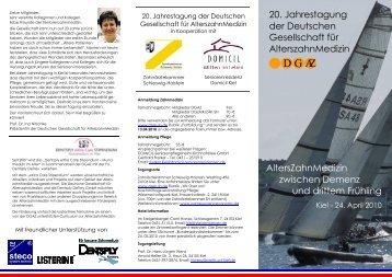 Flyer zur Jahrestagung 2010 - DGAZ