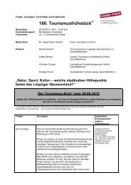Microsoft Word - 180. Tourismusfrühstück.doc - Stadt Leipzig