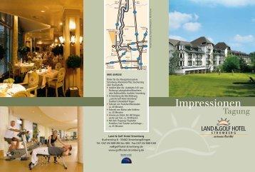 Flyer-Impressionen Tagung - Land&Golf Hotel Stromberg