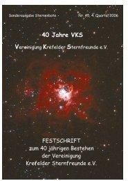40 Jahre VKS - Vereinigung Krefelder Sternfreunde e.V.