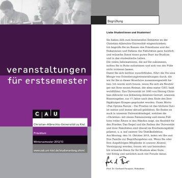 CAU - Zentrale Studienberatung - Christian-Albrechts-Universität zu ...