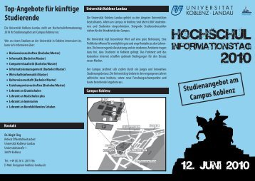 Studienangebot am Campus Koblenz - Universität Koblenz · Landau