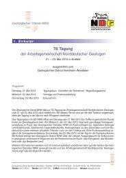 78. Tagung - Geologischer Dienst NRW