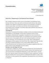 Presseinformation - Bodensee Therme Konstanz