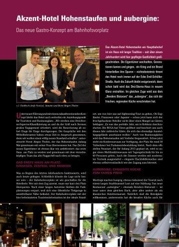 Akzent-Hotel Hohenstaufen und aubergine: - Restaurant aubergine ...
