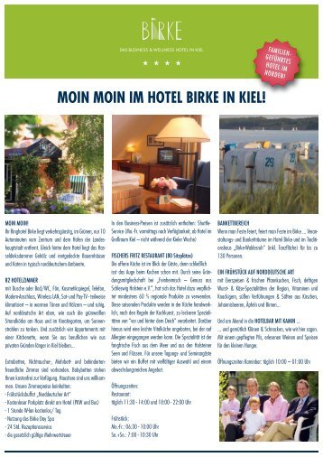 MOIN MOIN IM HOTEL BIRKE IN KIEL!