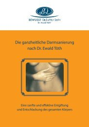Die ganzheitliche Darmsanierung nach Dr. ewald ... - Bewusst Gesund